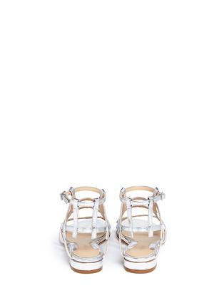 Back View - Click To Enlarge - CHELSEA PARIS - 'Bain' caged mirror leather sandals