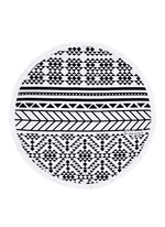 'The Aztec' fringed Roundie towel
