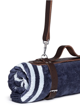 Detail View - Click To Enlarge - The Beach People - Leather towel carrier