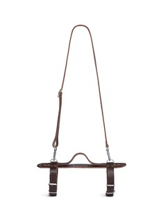 The Beach People Leather towel carrier
