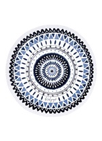 'The Majorelle' fringed Roundie towel