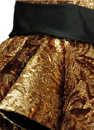 Detail View - Click To Enlarge - DICE KAYEK - Made-to-Order<br/><br/>'Esterina' pleat peplum bustier brocade top