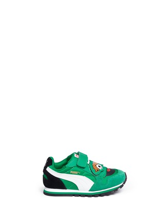 Main View - Click To Enlarge - Puma - 'Sesame Street® Oscar' suede toddler runner sneakers