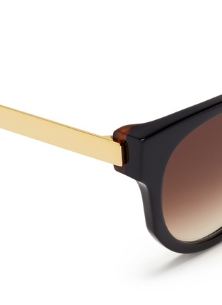 Detail View - Click To Enlarge - Thierry Lasry - 'Affinity' metal temple acetate round sunglasses