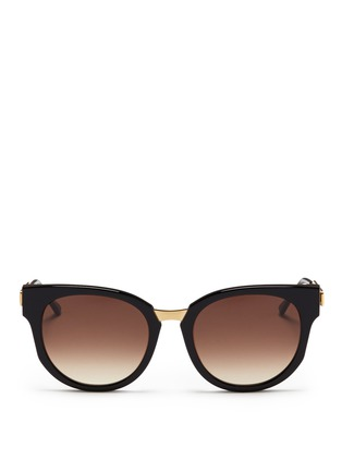 Main View - Click To Enlarge - Thierry Lasry - 'Affinity' metal temple acetate round sunglasses