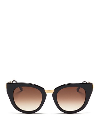 Main View - Click To Enlarge - Thierry Lasry - 'Snobby' acetate angular cat eye sunglasses