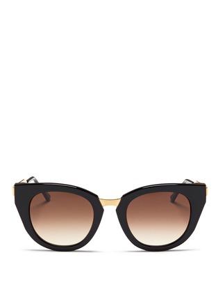首图 - 点击放大 - THIERRY LASRY - Snobby金属拼接猫眼款太阳眼镜