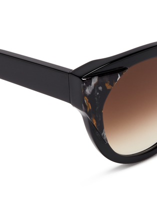Detail View - Click To Enlarge - Thierry Lasry - 'Aristocracy' inset pearlescent acetate cat eye sunglasses