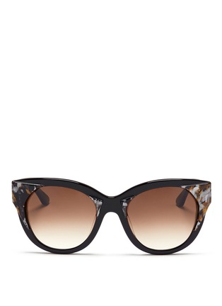 Main View - Click To Enlarge - Thierry Lasry - 'Aristocracy' inset pearlescent acetate cat eye sunglasses
