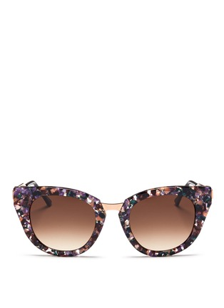 Main View - Click To Enlarge - Thierry Lasry - 'Snobby' shell effect acetate angular cat eye sunglasses