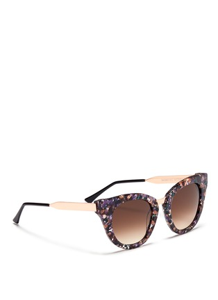 Figure View - Click To Enlarge - Thierry Lasry - 'Snobby' shell effect acetate angular cat eye sunglasses