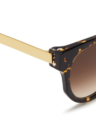 Detail View - Click To Enlarge - Thierry Lasry - 'Affinity' metal temple tortoiseshell acetate round sunglasses