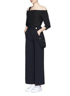 MO&Co.Wide leg overall pants