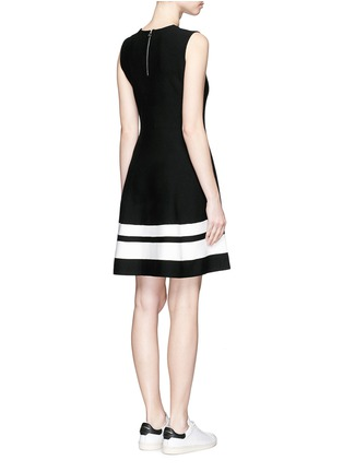 Back View - Click To Enlarge - Mo&Co. - Contrast stripe knit skater dress