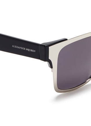 Detail View - Click To Enlarge - Alexander McQueen - Metal front frame acetate sunglasses