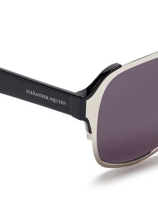 ALEXANDER MCQUEEN-金属顶框飞行员太阳眼镜