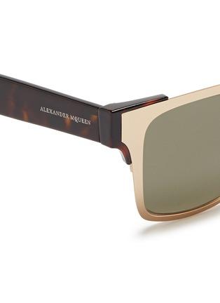 细节 - 点击放大 - ALEXANDER MCQUEEN - 金属粗框太阳眼镜