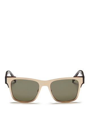 首图 - 点击放大 - ALEXANDER MCQUEEN - 金属粗框太阳眼镜
