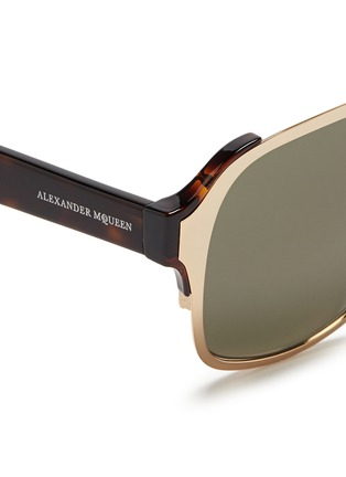 细节 - 点击放大 - ALEXANDER MCQUEEN - 金属顶框飞行员太阳眼镜