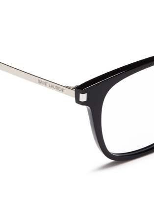 Detail View - Click To Enlarge - Saint Laurent - 'SL 26' metal temple acetate square optical glasses