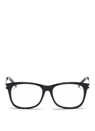 Main View - Click To Enlarge - Saint Laurent - 'SL 26' metal temple acetate square optical glasses