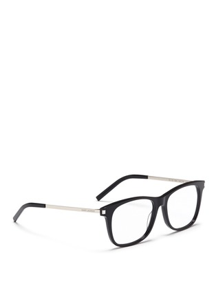 Figure View - Click To Enlarge - Saint Laurent - 'SL 26' metal temple acetate square optical glasses