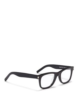 Figure View - Click To Enlarge - SAINT LAURENT - 'SL 50/F' acetate square optical glasses