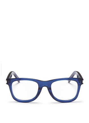Main View - Click To Enlarge - Saint Laurent - 'SL50/F' acetate square optical glasses