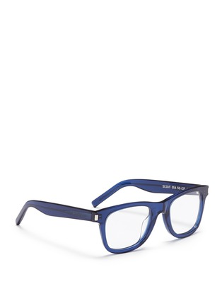 Figure View - Click To Enlarge - Saint Laurent - 'SL50/F' acetate square optical glasses