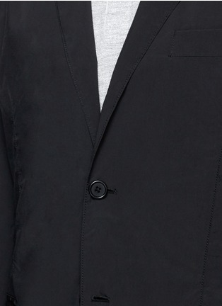 Detail View - Click To Enlarge - ASPESI - 'Ristretta' notch lapel tech fabric blazer