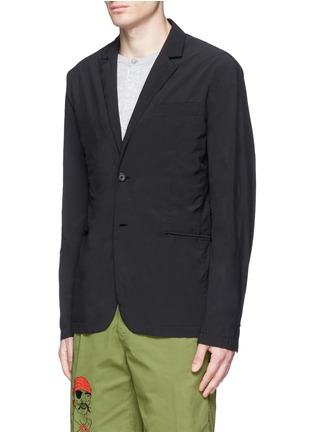 Front View - Click To Enlarge - ASPESI - 'Ristretta' notch lapel tech fabric blazer