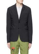 'Ristretta' notch lapel tech fabric blazer