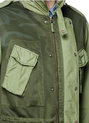 Detail View - Click To Enlarge - ASPESI - Mesh front M65 field jacket