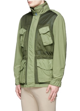 Front View - Click To Enlarge - ASPESI - Mesh front M65 field jacket