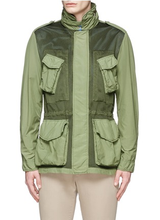 Main View - Click To Enlarge - ASPESI - Mesh front M65 field jacket