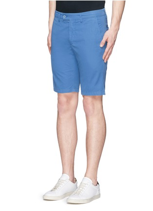 Front View - Click To Enlarge - ASPESI - Cotton twill Bermuda shorts