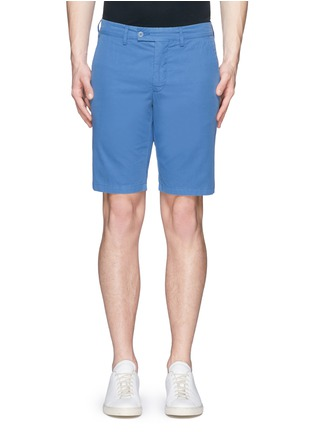 Main View - Click To Enlarge - ASPESI - Cotton twill Bermuda shorts