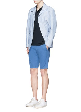 Figure View - Click To Enlarge - ASPESI - Cotton twill Bermuda shorts