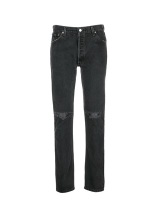Main View - Click To Enlarge - RE/DONE - Leather patch distressed jeans