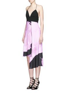 NICHOLASPaint floral print camisole dress