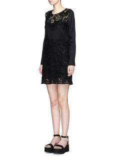 SEE BY CHLOÉFloral guipure lace insert cotton dress