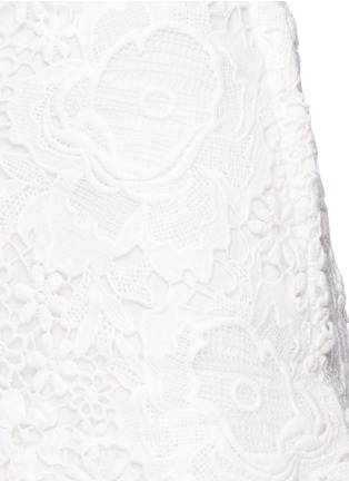 Detail View - Click To Enlarge - See by Chloé - Floral lace cotton voile maxi skirt
