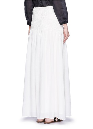 Back View - Click To Enlarge - See by Chloé - Floral lace cotton voile maxi skirt