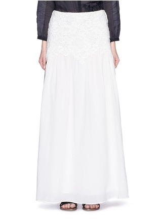 Main View - Click To Enlarge - See by Chloé - Floral lace cotton voile maxi skirt