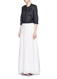 SEE BY CHLOÉFloral lace cotton voile maxi skirt