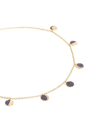 Figure View - Click To Enlarge - Pamela Love - 'Moon Phase' sapphire 18k yellow gold necklace