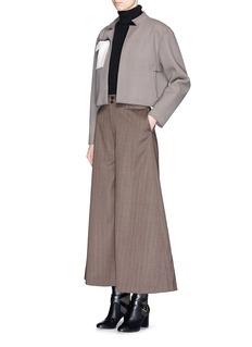 YIRANTIANJersey pocket cropped jacket