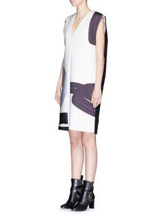 YIRANTIANCollage digital print scuba jersey cashmere dress