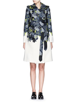 Main View - Click To Enlarge - Comme Moi - Abstract print piqué trench coat