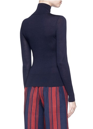 Back View - Click To Enlarge - Comme Moi - Wool-silk-cashmere turtleneck sweater
